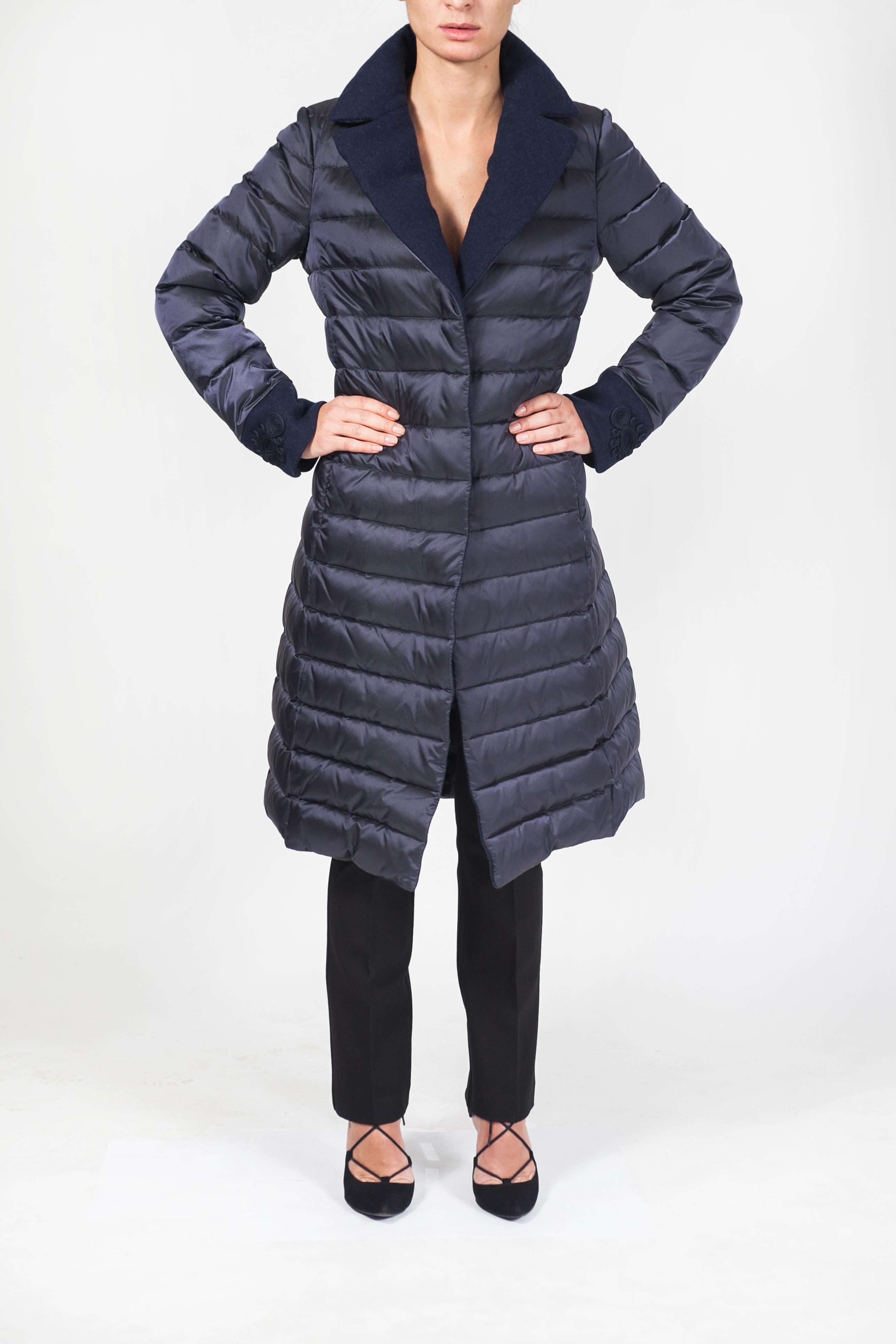 uk availability 0671b a4bb3 Cappotto piumino con profili in lana – Nouvelle Vogue